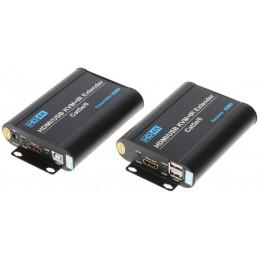 EXTENDER ZESTAW 4K USB + PILOT IR HDMI+USB-EX-70-4K
