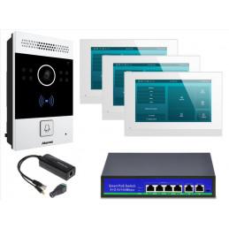 """Wideodomofon SIP IP z 3 monitorami 7"""" C313 Akuvox"""
