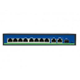 Switch 8 portów PoE + 2 porty Uplink 1000Mb/s Gigabit+ SFP