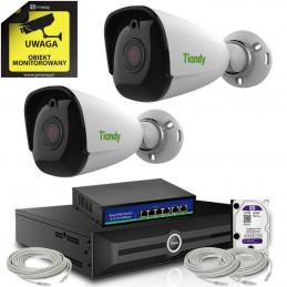 Zestaw monitoringu Tiandy 2 kamery tubowe 4K 8Mpx