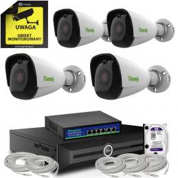 Monitoring Tiandy zestaw 4 kamery Tiandy 8Mpx 4K