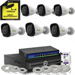 Zestaw monitoring Tiandy 6 kamer tubowych 8Mpx