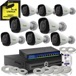 Zestaw 4K Tiandy 8 kamer tubowych UHD 8Mpx
