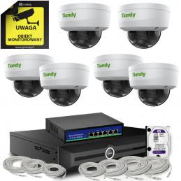 Kamery kopułkowe 4K 8Mpx 1TB PoE zestaw Tiandy