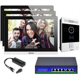Akuvox zestaw jednorodzinny 3 monitory C317A