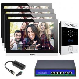 Akuvox zestaw jednorodzinny 4 monitory C317A