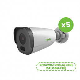 Zestaw 5 kamer sieciowych IP Tiandy TC-NCL214C 2Mpix