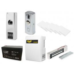 Zestaw kontrola dostępu czytnik palca oraz kart zbliżeniowych z zasilaniem awaryjnym ze zworą elektromagnetyczną VIDI-AC-F00