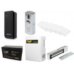 Bezdotykowe otwieranie drzwi - zestaw z podtrzymaniem napięcia ze zworą elektromagnetyczną VIDI-AC-1C