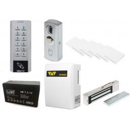 Zestaw kontrola dostępu zamek szyfrowy czytnik kart z zasilaniem awaryjnym ze zworą elektromagnetyczną VIDI-AC-3CSS