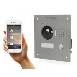 Wideodomofon na smartfona P2P z daszkiem do montażu natynkowego