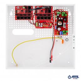 Zestaw buforowy do 9 kamer IP, w obudowie wewnętrznej ABOX-F (1x AKU 18Ah), zasilacz 72W, switch PoE 10 portowy 10/100Mbps (9xP