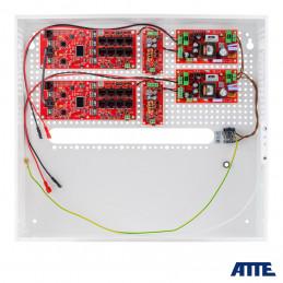 Zestaw buforowy do 16 kamer IP, w obudowie wewnętrznej ABOX-H (2x AKU 18Ah + NVR), zasilacz 144W (2x 72W), switch PoE 18 portow