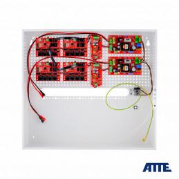 Zestaw buforowy do 17 kamer IP, w obudowie wewnętrznej ABOX-H (2x AKU 18Ah + NVR), zasilacz 144W (2x 72W), switch PoE 18 portow