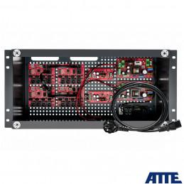 Zestaw buforowy do 17 kamer IP, w obudowie RACK ABOX-R5U0 (2x AKU 18Ah), zasilacz 144W (2x 72W), switch PoE 18 portowy 10/100Mbp