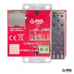 Gigabitowy media konwerter Ethernet - SFP, możliwość zasilania z PoE 802.3af lub PASSIVE. 1x LAN 10/100/1000 Mbps oraz 1x SFP