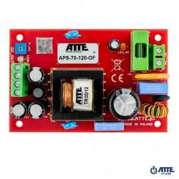 Zasilacz sieciowy SMPS, Vin 230VAC, Vout 48VDC, Iout 2A, Pout 96W, moduł do zabudowy, typu ATTE APS-90-480-OF