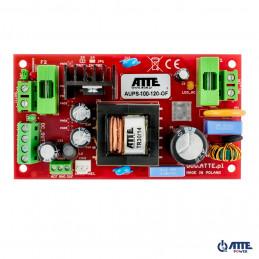Zasilacz buforowy SMPS 12V, Vin 230VAC, Vout 10,2 ...13,8VDC, Iout 8A, Ich 1 / 2A, Pout 100W, moduł do zabudowy, typu AUPS-100-