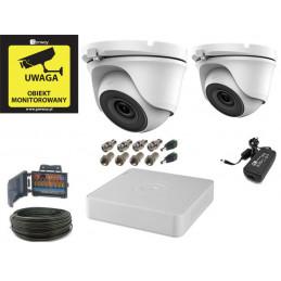 Zestaw monitoring 2 kamery kopułkowe 5Mpx