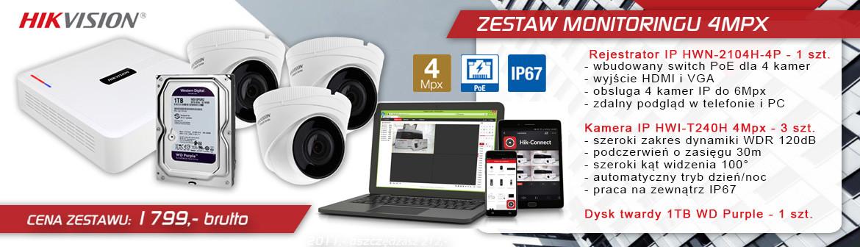 Hikvision zestaw kamer IP